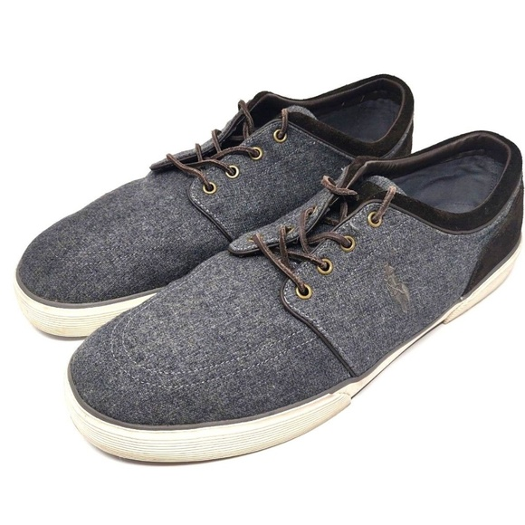 Faxon Low Shoes Ralph Polo 17d Gray Flannel Lauren 8nwOXN0Pk